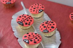lady bugs gave me the idea to use mini reese cups and top with (foam and sharpie made) ladybugs