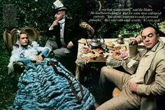 "Vogue US December 2003, ""Alice in Wonderland"" shot by Annie Leibovitz"