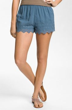 Frenchi® Eyelet Shorts (Juniors) available at Nordstrom..digging these cute shorts!!