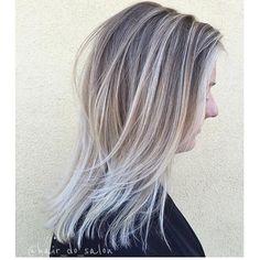 Cool, low-maintenance blonde , sombre hair color