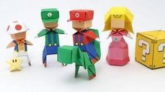 How to fold Mario from paper? Origami Mario by Jo Nakoshima