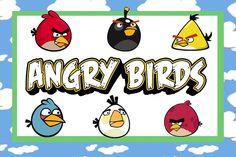 Fazendo a Minha Festa!: Angry Birds - Kit Completo com molduras para convites, rótulos para guloseimas, lembrancinhas e imagens!