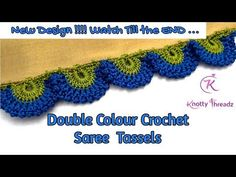 Saree Kuchu New Designs, Saree Tassels Designs, Hand Embroidery Videos, Hand Embroidery Stitches, Embroidery Designs, Crochet Flower Tutorial, Crochet Lace Edging, Crotchet Patterns, Feather Design