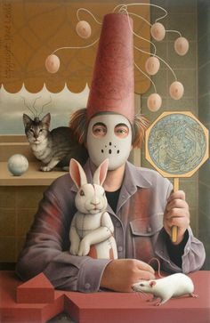 "Jane Lewis ""White Rabbit (The Vivisectionist)"" (oil on canvas) Jane Lewis, London College, Rabbit Art, Henry Moore, Vanitas, Art School, Alice In Wonderland, Oil On Canvas, Gallery"
