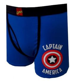 Marvel Comics Captain America Classic Logo Boxer Brief,  13.50 up to XXL  Simply stated, d2e9f13deae4
