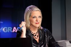 Nancy Grace listening to a caller. Nancy Grace, Day Of My Life, Crime, Treats, People, Sweet Like Candy, Goodies, Crime Comics, Snacks