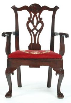 Beginner's Guide to Chippendale Style Furniture: Chippendale Style Chair with Yoke Back, Pierced Splat, Cabriole Legs, and Ball and Claw Feet, c. 1765-1775