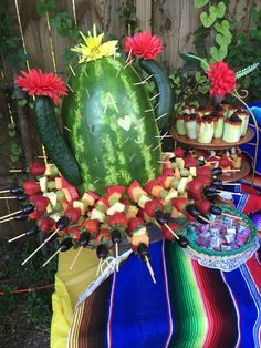 Cactus watermelon - Mexican theme party More