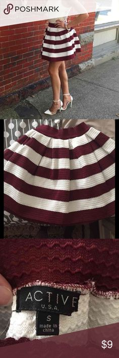 Still striped bubble skirt This was only worn a maximum of three times, its super cute and comfy and still in amazing condition! Skirts Mini