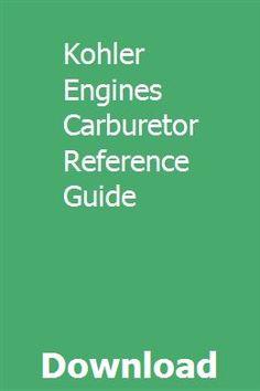 8 Best Kohler Engines images in 2015 | Kohler engines, Engineering