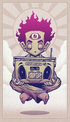 "Eye Opener  by Chump Magic  ART PRINT / MINI (7"" X 10"")"