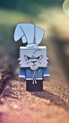 ↑↑TAP AND GET THE FREE APP! Grumpy Cardboard Rabbit Colorful Angry Gloomy Cute Scary Paper Handmade HD iPhone 6 plus Wallpaper