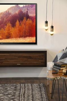 Floating Fireplace Wall Mount TV Stand - ECO GEO Espresso - Woodwaves Fireplace Console, Floating Fireplace, Fireplace Wall, Fireplace Design, Furniture Decor, Modern Furniture, Wall Mount Tv Stand, Electric Fireplace Tv Stand, Block Wall
