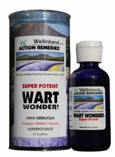 WART WONDER SUPER POTENT Choose Super Potent for older, large, crusty, tenacious warts and warts that appeared around the scar that resulted from having your earlier wart cut or frozen off.