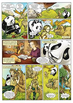 #Al Monte Corno - Second episode _ #Drawings and Colors - #Andrea Marongiu; #Texts and Inks - #Massimo Mantovani; Subject - Andrea Marongiu and Massimo Mantovani; #comics; #animals