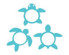 sea turtle monogram frames svg dxf file instant download silhouette cameo cricut clip art