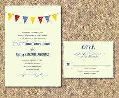 DIY Printable Wedding Invitation - Celebration Banner. $35,00, via Etsy.