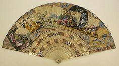 Fan  Date: 18th century Culture: European (probably) Medium: paper, paint Dimensions: Length: 11 1/2 in. (29.2 cm)