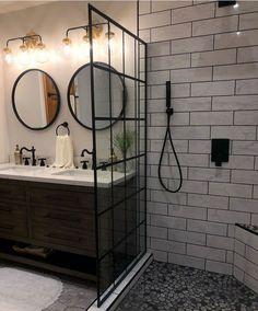 50 Bathroom Tile Designs Ideas & Trends for 2019 – 5 Measures to Install 16 - . Diy Bathroom Remodel, Shower Remodel, Bad Inspiration, Bathroom Inspiration, Small Bathroom With Shower, Small Bathrooms, Best Bathroom Designs, Bathroom Ideas, Bathroom Vanities