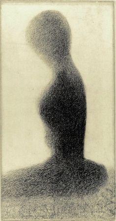 Young woman (study for Un dimanche à la Grande Jatte) / Georges Seurat / 1884-85 / conte crayon on paper