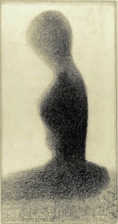 Young woman (study for Un dimanche à la Grande Jatte) / Georges Seurat / 1884-85 / conte crayon on paper