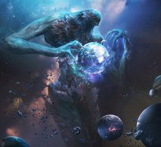 Space Monster – fantasy/horror concept by fang xinyu Dark Fantasy Art, Foto Fantasy, Fantasy Artwork, Space Fantasy, Monster Art, Fantasy Monster, Arte Sci Fi, Sci Fi Art, Mythical Creatures Art