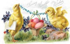 Easter vintage postcard -3. Discussion on LiveInternet - Russian Service Online Diaries