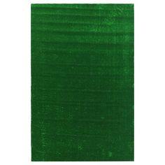 Ottomanson Evergreen Collection Green Artificial Grass Design Area Rug (6'7 x 9'3)
