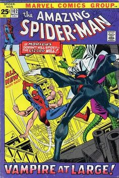 Amazing Spider-Man #102  2nd appearance & origin of Morbius the Living Vampire