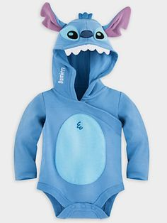 Disney Store Lilo & Stitch Baby Bodysuit Costume Hood Halloween & Shoes mon - Baby Bodysuit - Ideas of Baby Bodysuit - Disney Store Lilo & Stitch Baby Bodysuit Costume Hood Halloween & Shoes mon Disney Baby Clothes, Baby & Toddler Clothing, Cute Baby Clothes, Disney Babys, Baby Disney, Baby Kostüm, Baby Kids, Baby Outfits, Stitch Baby Costume