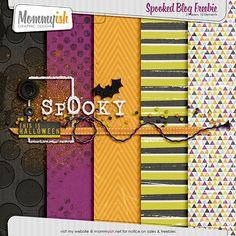 Quality DigiScrap Freebies ~~~ Spooked Mini by Mommyish! Free Scrapbook Paper, Free Digital Scrapbooking, Digital Papers, Family Yearbook, Project Life Scrapbook, Halloween Patterns, Halloween Backgrounds, Printable Paper, Photoshop Elements