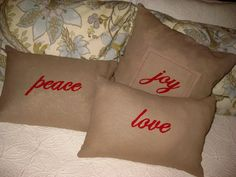 Pottery Barn Inspired Christmas Pillows