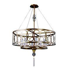K2790AB Dorrit Drum Pendant Pendant Light - Antique Brass