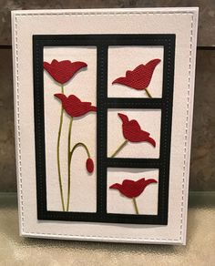 Prim Poppy in frame die