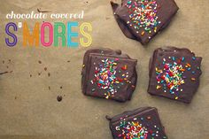 Chocolate Covered S'mores and other really easy chocolate treats for Valentine's Day