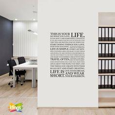 vinilo decorativo, life