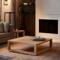 20 Simple Wooden Furniture For Rustic Living Room Ideas - Furniture Design - Living Room Table Coffe Table Design, Simple Coffee Table, Oak Coffee Table, Wooden Living Room Furniture, Plywood Furniture, Table Furniture, Furniture Design, Furniture Ideas, Furniture Stores