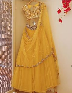 Beautiful Silk Lehenga-Choli with Hand Embroidery embellishments. Indian Dress Up, Indian Attire, Indian Wear, Indian Lehenga, Blue Lehenga, Silk Lehenga, Choli Dress, Indian Bridesmaids, Indian Bridal Outfits