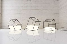 Living Light by Nissa Kinjalina Has a Portable Geometric Form #furniture trendhunter.com
