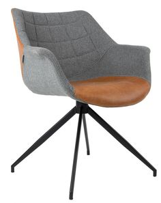 Zuiver Doulton armchair is so classy we can't decide if it is a dining chair, an office chair or a modern armchair. We combined fabric and PU-leather Dining Furniture, Cool Furniture, Furniture Design, Room Chairs, Dining Chairs, Dinner Room, Soft Seating, Modern Armchair, Chair Design