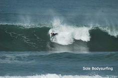 Bodysurfing in San Diego. Austin Bunn Photography: Todd Partridge Sole Handplanes