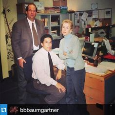 "#Regram: ""The Accountants"" circa 2004. Taken while shooting the pilot. @YahooTV #theoffice - @bbbaumgartner"