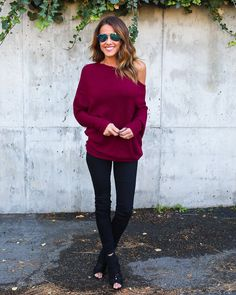 PREORDER - Ticket To Cozy Sweater - Burgundy