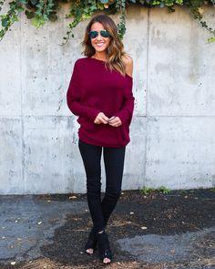 PREORDER - Ticket To Cozy Sweater - Burgundy