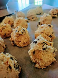 Cream cheese, chocolate chips, vanilla. Can you get better than cookie dough? I submit that you cannot. These are very light, fluffy and don't have a sharp cream cheese flavor, but rather a t…