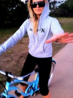 workout clothes ... hoodie & spandex