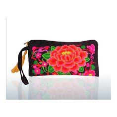 Yunnan Embroidery Woman's Bag Handbag Comestic Bag Coin Case Embroidery Handbag (Big Size) black