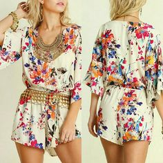 ***Host Pick*** Floral romper Beautiful Umgee romper. This romper is pure cuteness & so easy to wear. Fit is true to size. Umgee Shorts