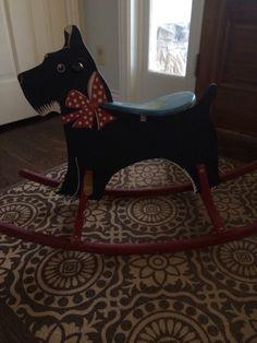 Scottie Dog Rocker Rocking Toy Horse Vintage