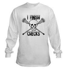 Lacrosse I Finish Checks Long Sleeve T-Shirt> Lacrosse Finish Checks> YouGotThat.com